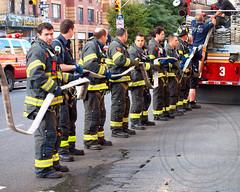 FDNY Firefighters, Chelsea, Manhattan, New York City (jag9889) Tags: city nyc ny newyork alarm fire restaurant chelsea manhattan ristorante fdny department firefighters lasagna bravest 2013 8avenue jag9889