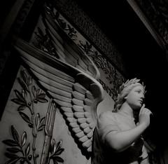 (Hellodelyon) Tags: nikoncoolpixp7100 statue ange lyon fourvière noir blanc white black bnw monochrome nb bw angel