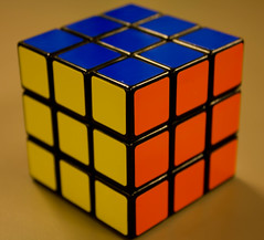 Cubed (Froja) Tags: blue orange game colors yellow puzzle cube collectible rubikscube