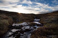 Early Mountain Morning (The Autodidact Photographer) Tags: morning autumn sky sun mountain sol norway clouds creek canon norge stream hunting himmel brook jakt rondane fjell hst hedmark bekk sterdalen sollia canonef24105mmf4lisusm storelvdal eos5dmkii eos5dmark2 setningen atnadal