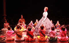 Christiane Noll as Anna and cast in The King and I produced by Music Circus at the Wells Fargo Pavilion August 6-11, 2013. Photo by Charr Crail.