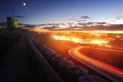 Misty St John's (VictorLiu Photography) Tags: light sunset night stjohns signalhill cabottower