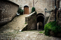 Serra San Quirico (mrkgllsp) Tags: door italy building nature ecology stone architecture scenery doors arch architecturaldetail stones entrance structures it architectural doorway land environment portal exit environmentalism marche portals ecosystem edifice edifices arched serrasanquirico