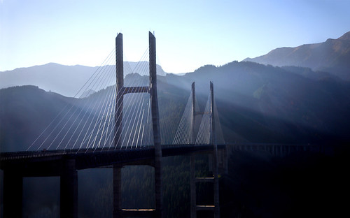 2811 Gouziguo  Bridge--Tian Shan Mountain  Range , Xinjiang Province , China