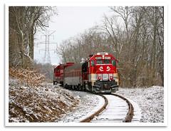 High Tension (bogray) Tags: winter snow train lunch bluegrass ky central locomotive emd gp382 dieselelectric rjcorman lexingtondinnertrain rjc3802 rjc3813