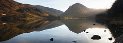 Buttermere Panorama 2 (Lakeland-Photographs) Tags: sun lake water canon reflections eos district cumbria buttermere crummock 400d