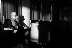 hypocrisy (alpgiraykelem) Tags: shadow woman man turkey hotel blackwhite day sitting tea drinking wife hypocrisy alpgiray kelem alpgiraykelem
