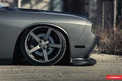 Dodge Challenger - VVSCV3 (VossenWheels) Tags: muscle wheels american graphite challenger matte concave airride vossen cv3 accuair