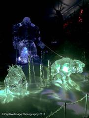 Troll & Hell Dogs (_Captive Image_) Tags: uk sculpture snow london ice hydepark winterwonderland icesculpture captiveimagephotography htconex magicalicekingdom