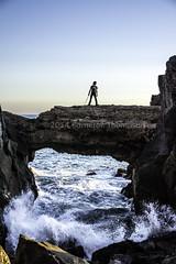 Epic Cody (SW23CT (CamsDigitalCanvas.com)) Tags: california bridge boy man beach water rocks arch crash pch sword cody katana camarillo hwy1 mugurock ptmugu nikond7100 muguarch