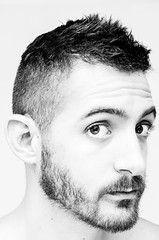 (Damien Cox) Tags: uk portrait blackandwhite bw selfportrait man male me self ego myself beard mono nikon masculine moi grayscale scruffyhair scruff stubble i damiencox dcoxphotographycom