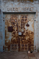 U.S.E.D. 1942 (Lorne Thomas) Tags: california door losangeles nikon rust ruins decay bunker forgotten nikkor2870f28 nikond800e