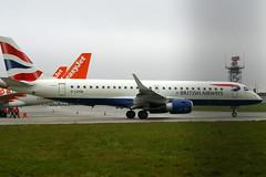 G-LCYM Embraer ERJ-190-100 SR BA Cityflyer at London Southend Airport (lee_klass) Tags: aircraft aviation southend sen embraer diversion taxiing cfe erj190 embraer190 southendairport e190 aviationphotography ejet bacityflyer egmc embraererj190 londonsouthendairport glcym erj190100sr lcydiversion erj190taxiing