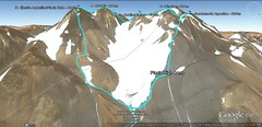 Pissis Traverse route