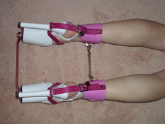Here is Why the Pink Shoe Locks Restrain Her Ankle Movement (KAFOmaker) Tags: sexy leather bar shoe chains high shoes highheel highheels lock sandals platform bondage chain strap heels locks heel bound buckle locked straps sandal buckles splint platforms strappy chained restraints restraint strapped spreader buckling strapping buckled