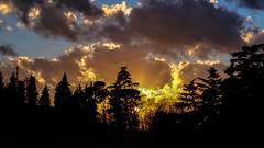 Burn (damar47) Tags: light sun nature sunshine silhouette clouds landscape twilight nuvole quiet colours shine pentax scenic sunny calm silence shining controluce da50200mm collibolognesi beforethenight pentaxk30
