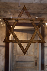 Synagogue at Eastern State Penitentiary (mhoffman1) Tags: philadelphia museum star worship unitedstates pennsylvania religion prison jail jewish philly shalom pews starofdavid penitentiary easternstate sonyalpha a7r alfredwfleisher