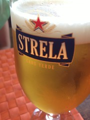 A cold Strela, the local beer!