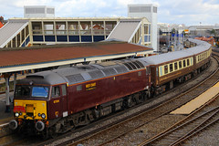 57314, Fratton, February 21st 2015 (Southsea_Matt) Tags: station train fratton charter doncaster virgintrains portsmouthharbour freightliner diesellocomotive class47 arrivatrainswales class57 47372 57314 wcrc spiritofthelakes westcoastrailwaycompany d1891