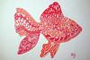 Poisson rouge - Zentangle (Nicole Fodale) Tags: fish poisson zentangle