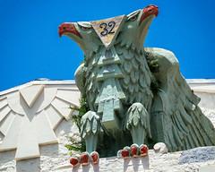 Scottish Rite Temple (1922-24), view04, 471 NW 3rd Street, Lummus Park, Miami, FL (lumierefl) Tags: 1920s usa building architecture temple unitedstates florida miami south lodge northamerica artdeco fl southeast fraternal 20thcentury freemason subtropics doubleheadedeagle miamidadecounty lummuspark