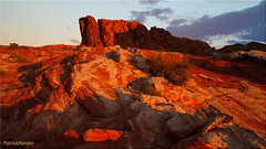 Rocks on fire [ExpLoREd] (Patrick Berden) Tags: usa valleyoffire sunrise nevada 2013