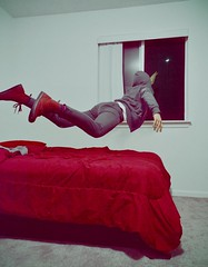 Attain (Brooke Brewster) Tags: moon selfportrait fairytale night flying surrealism flight dream surreal levitation identity gravity fantasy dreams conceptual selfportraiture narrative drmartens fineartphotography levitate conceptualimage