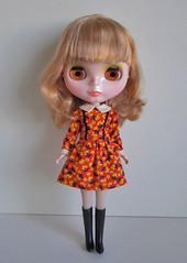 schoolgirl dress orange