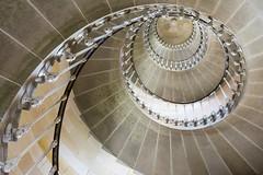 Spiral stairway (Jan van der Wolf) Tags: lighthouse stairs spiral steps perspective stairway staircase handrail phare vuurtoren trap ileder frogperspective leuning treden perspectief wenteltrap pharedesbaleines map143213v