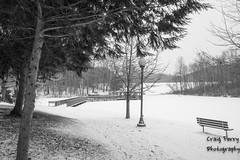 Twin_Lakes_Winter-2 (craigferry@ymail.com) Tags: winter blackandwhite frozenlake twinlakespark pentaxk3
