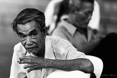 Singapore (ale neri) Tags: street portrait people blackandwhite bw asian singapore chinatown chinese streetphotography smoking aleneri alessandroneri