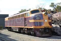 4204 (rob3802) Tags: train gm diesel rail railway loco nsw locomotive lvr thirlmere railmuseum diesellocomotive 4204 dieselelectriclocomotive trainworks nswrtm nswgr nswr nswrailtransportmuseum lachlanvalleyrailway 42class