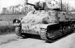 Captured French Somua S35 Cavalry Tank in German service.