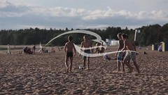 Friends Playing Football On Beach (alekseiptitsa) Tags: boy summer vacation people playing game male beach nature sport youth ball children relax fun outdoors coast football sand day child play friendship soccer young lifestyle happiness human together leisure caucasian