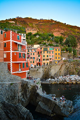 DSC_0296 (chriswalts) Tags: ocean travel sunset italy holiday cinqueterre
