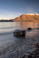 In The Shallows (duncan_mclean) Tags: newzealand mountains water landscape rocks afternoon pebbles boulders lakewakatipu polariser leefilters littlestopper