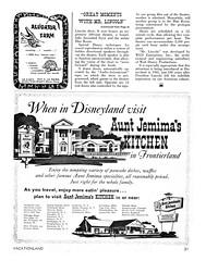 Vacationland Fall 1965 23 - Aunt Jemima's Kitchen (Tom Simpson) Tags: vintage advertising disneyland ad disney advertisement 1960s vacationland 1965 vintagead auntjemima vintagedisneyland vintagedisney auntjemimaskitchen