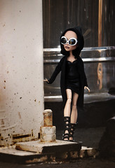 ooops (tehhishek) Tags: plant black glasses model doll darkness ooak cloak custom mattel