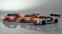 Audi R8 Family (Velocites) Tags: lego audi r8 moc