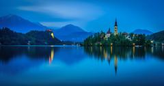 Lake Bled (AdMixStar) Tags: lake bled slovenia island islamcevic bluehour reflection mirror longexposure nature nationalni park paradise triglav landscape outdoore light ermedin church