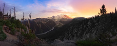 Above the lonesome valley II (Ben_Coffman) Tags: sunset summer panorama evening washington glacier whiteriver mtrainier bencoffman mtrainierpanorama bencoffmanphotography rainierart rainierprints