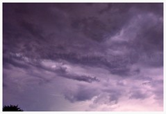 Impressive thunderstorm (julianwollek) Tags: sky nature clouds spectacular outside photography fotografie view purple outdoor natur himmel wolke wolken lila thunderstorm lightning blitz gewitter sturm blitze