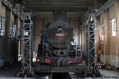 I_B_IMG_7388 (florian_grupp) Tags: china railroad train landscape asia mine desert muslim railway steam xinjiang mikado locomotive ore js steamlocomotive 282 opencastmine yamansu