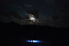 Moon Night Spotlight (jna.rose) Tags: china longexposure nightphotography light portrait sky urban cloud moon broken glass night clouds self dark person photography nikon ruins factory decay spotlight nighttime slowshutter flashlight moonlight remote standingstill nikond80