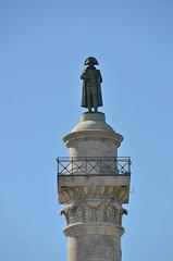 Boulogne-sur-Mer (Pas-de-Calais) - Wimille - Colonne de la Grande Arme - Napolon tournant le dos  la mer et son ennemi, l'Angleterre (Morio60) Tags: 62 colonne napolon pasdecalais boulognesurmer wimille