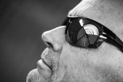 Tunnel vision (@lattefarsan) Tags: portrait blackandwhite bw sunglasses nose glasses stockholm tunnel tunnelvision brunkebergstunneln attackfoto