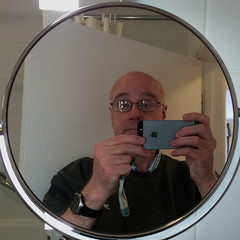 selfie (Leo Reynolds) Tags: reflection me mirror squaredcircle iphone selfie 5s iphoneography xleol30x iphone5s xxx2016xxx