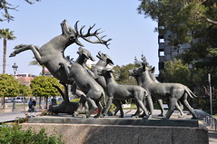 Barcelona (Jaume Vicens Vives gardens, Diagonal Avenue). Deer attacked by dogs. 1966-1967. Frederic Mars, sculptor (Catalan Art & Architecture Gallery (Josep Bracons)) Tags: barcelona sculpture dog chien art animals bronze garden gallery arte kunst hunting hound jardin skulptur catalonia 1966 deer escultura perro 1967 catalunya animaux bete roedeer jardins gos catalua federico catalan barcelone chevreuil mares chasse caza bronce ciervo frederic cerf catala venado katalonien josep catalogne corzo la cabirol bracons cervol vives caixa vicens