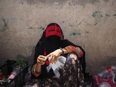 Minab woman ([The World Through My Eyes]) Tags: street mask iran market muslim islam middleeast persia olympus unusual extraordinary persiangulf bandarabbas islamicrepublicofiran iro minab microfourthirds olympusomdem1 outofusual