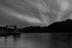 Not a Sound (trishp97) Tags: ocean longexposure sky blackandwhite canada night outside seatosky provincialparks